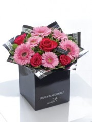 Julien Macdonald Glittering Gerbera, Germini and Rose Hand-tied