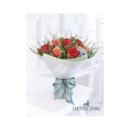 Country Living Crimson Celebration Hand-Tied