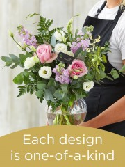 Hand-tied Bouquet and Vase £50
